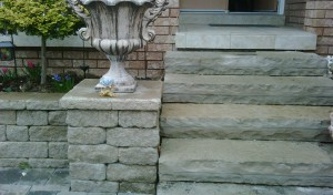 Stone Steps with Columns